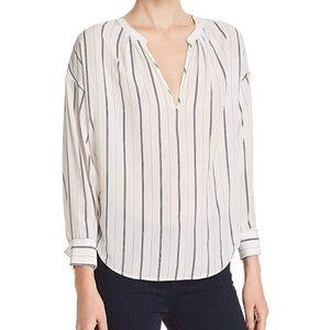 Joie Toril striped white blouse